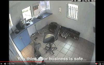 Drunk Security Guard Expose CCTV